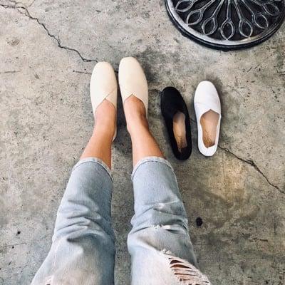 Giày mọi da bò tigish