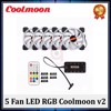 COMBO 5FAN LED RGB COOLMOON V2