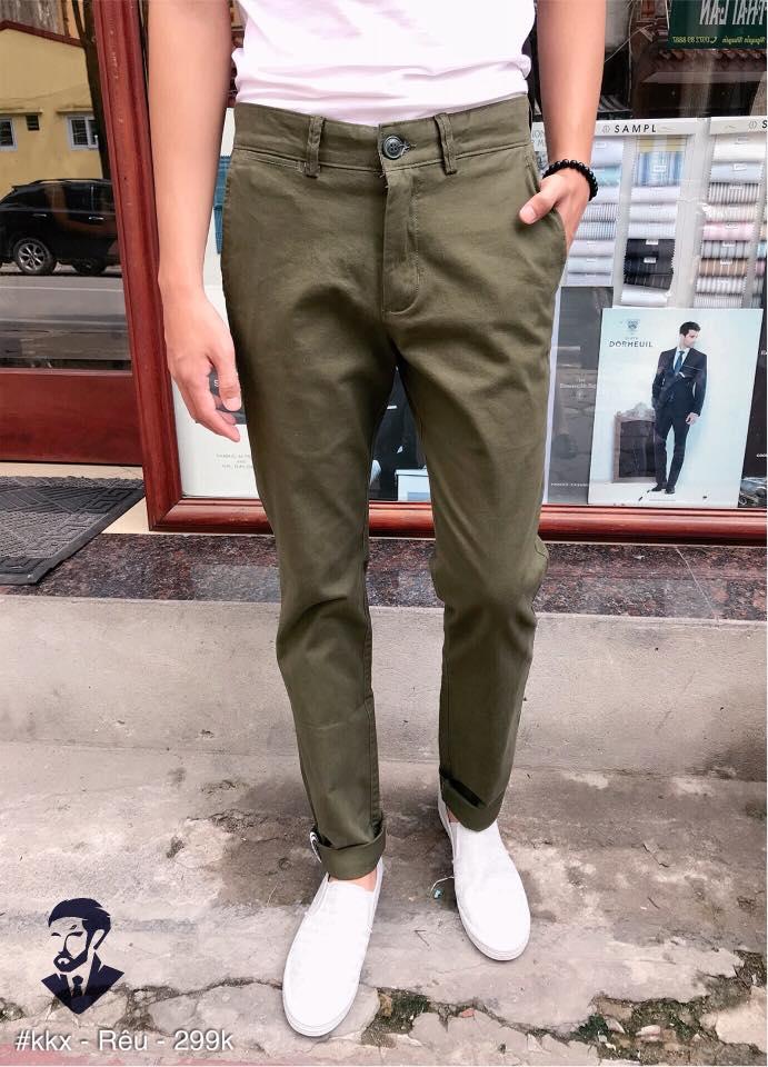 quần kaki Kkx_Rêu
