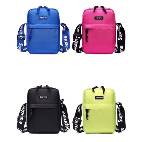 SUPREME SHOULDER BAG : RED/BLACK/GREEN/PINK/BLUE