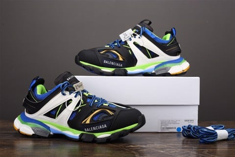 [JS Version] - Balenciaga Track Trainer 'Black Green' - 542023