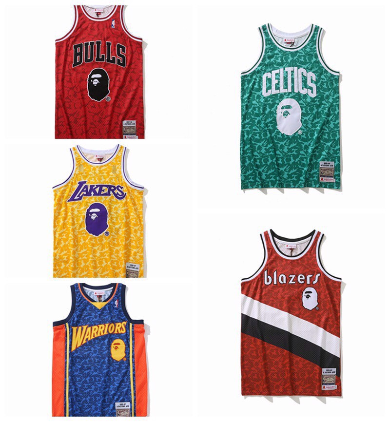 A BATHING APE® x MITCHELL & NESS TANK TOP
