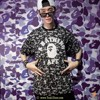 A BATHING APE® DSM SPECIAL SOLID CAMO TEE- BLACK