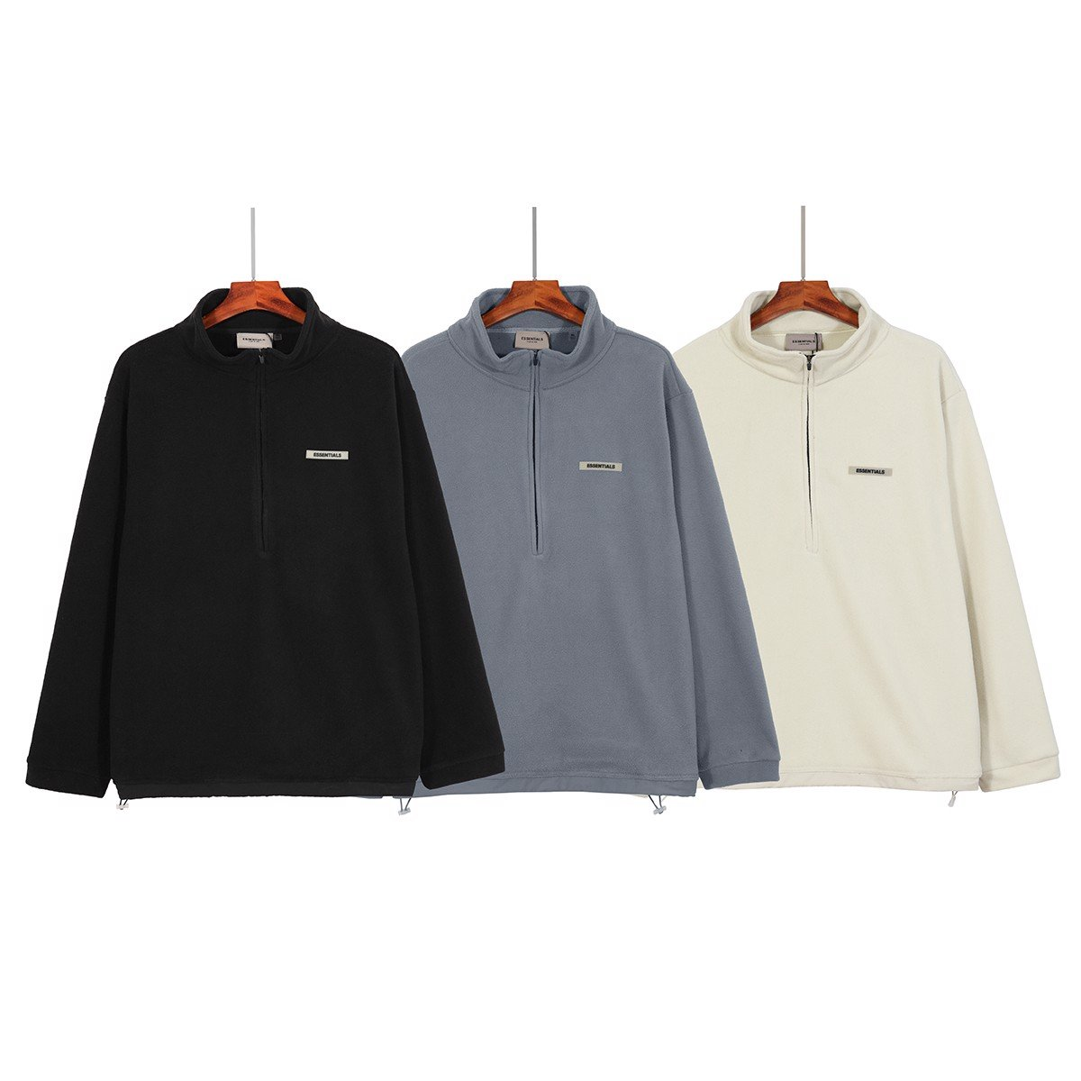 FEAR OF GOD ESSENTIALS Polar Fleece Half-Zip Sweater
