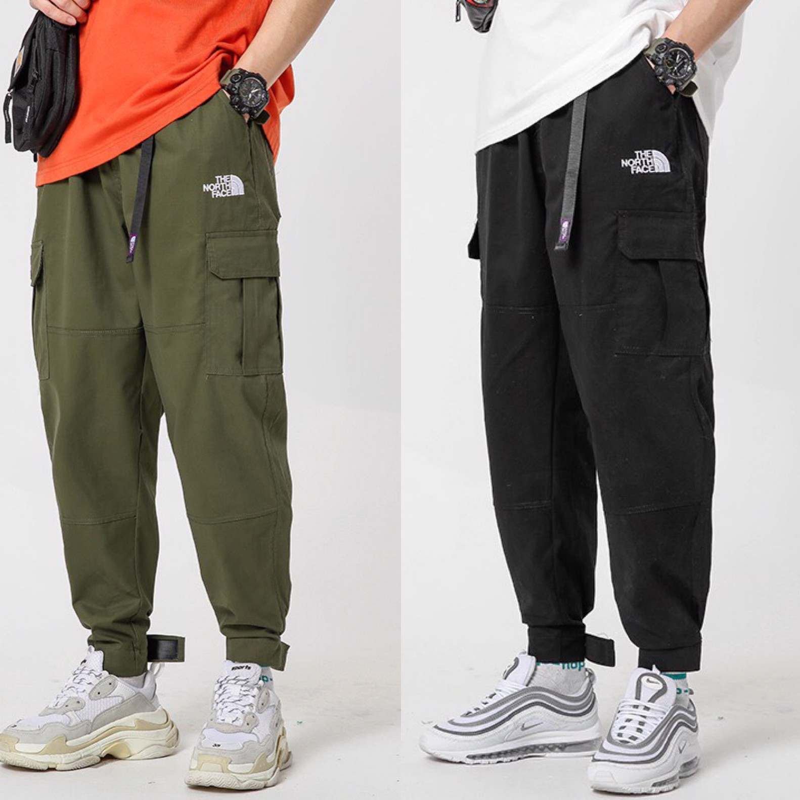 THE NORTH FACE POCKET PANTS GREEN & BLACK