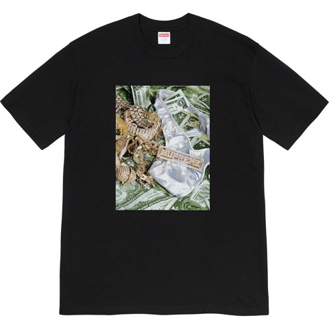 SUPREME BLING TEE BLACK/WHITE