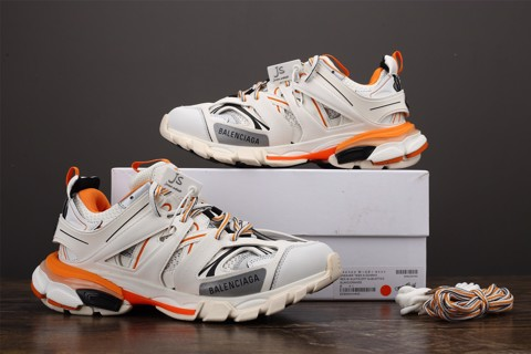 [JS Version] - Balenciaga Track Trainer 'White Orange' - 542023