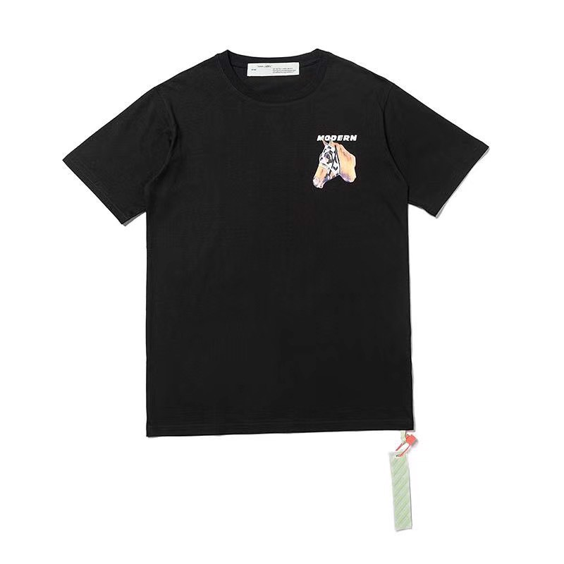 OFF WHITE HORSE PRINT T-SHIRT