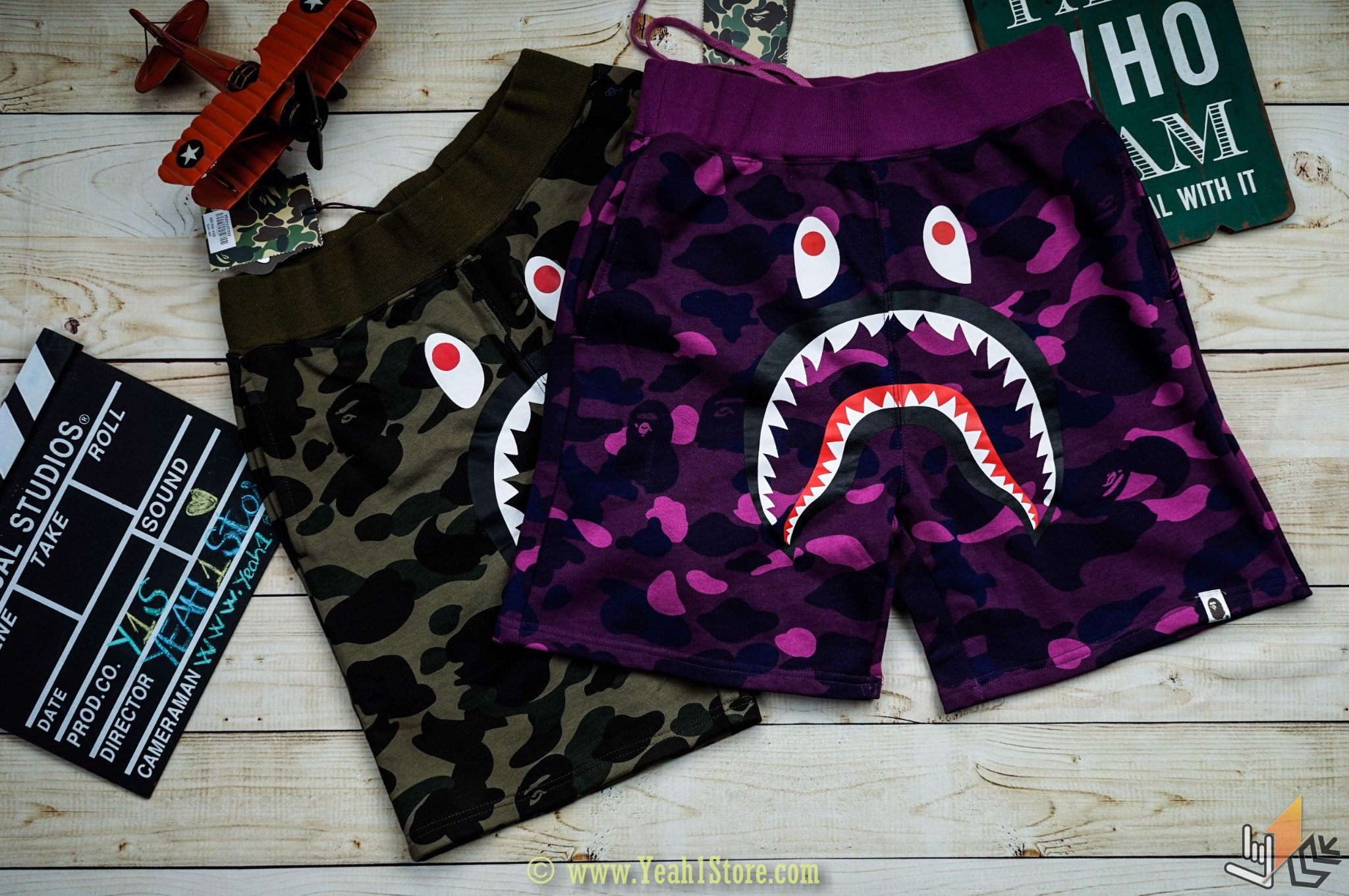 Sweat Shorts Color Camo Shark