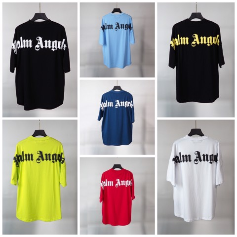 PALM ANGELS LOGO COLLAR BACK T-SHIRT