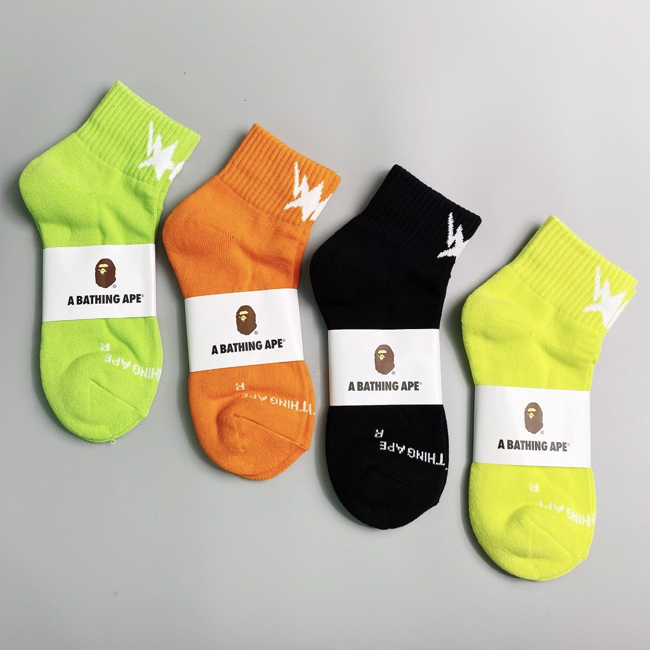 A Bathing Ape® STA ANKLE SOCKS (4 colors )
