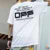 OFF WHITE WAVY LINE LOGO S/S OVER T-SHIRT
