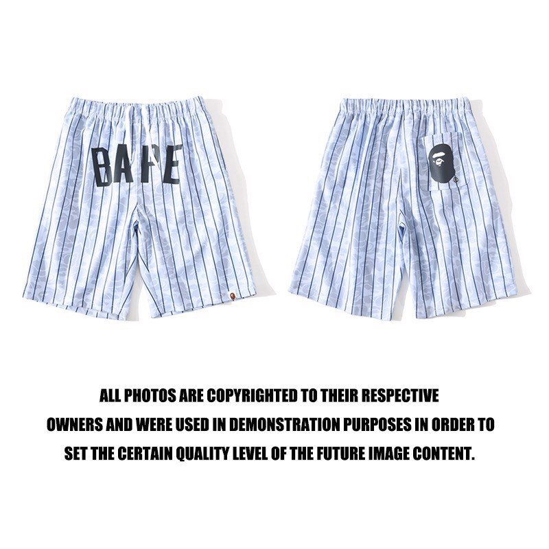 BAPE® x M & N  WHITE SHORTS
