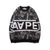 AAPE BY *A BATHING APE® SWEATSHIRT BLACK/RED