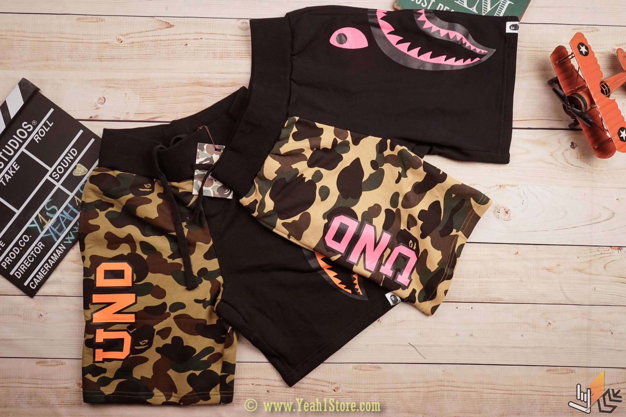 BAPE X UNDEFEATED Short - Camo Đen