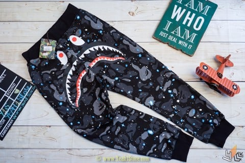 SPACE CAMO SHARK S/S PANTS (Dạ Quang)