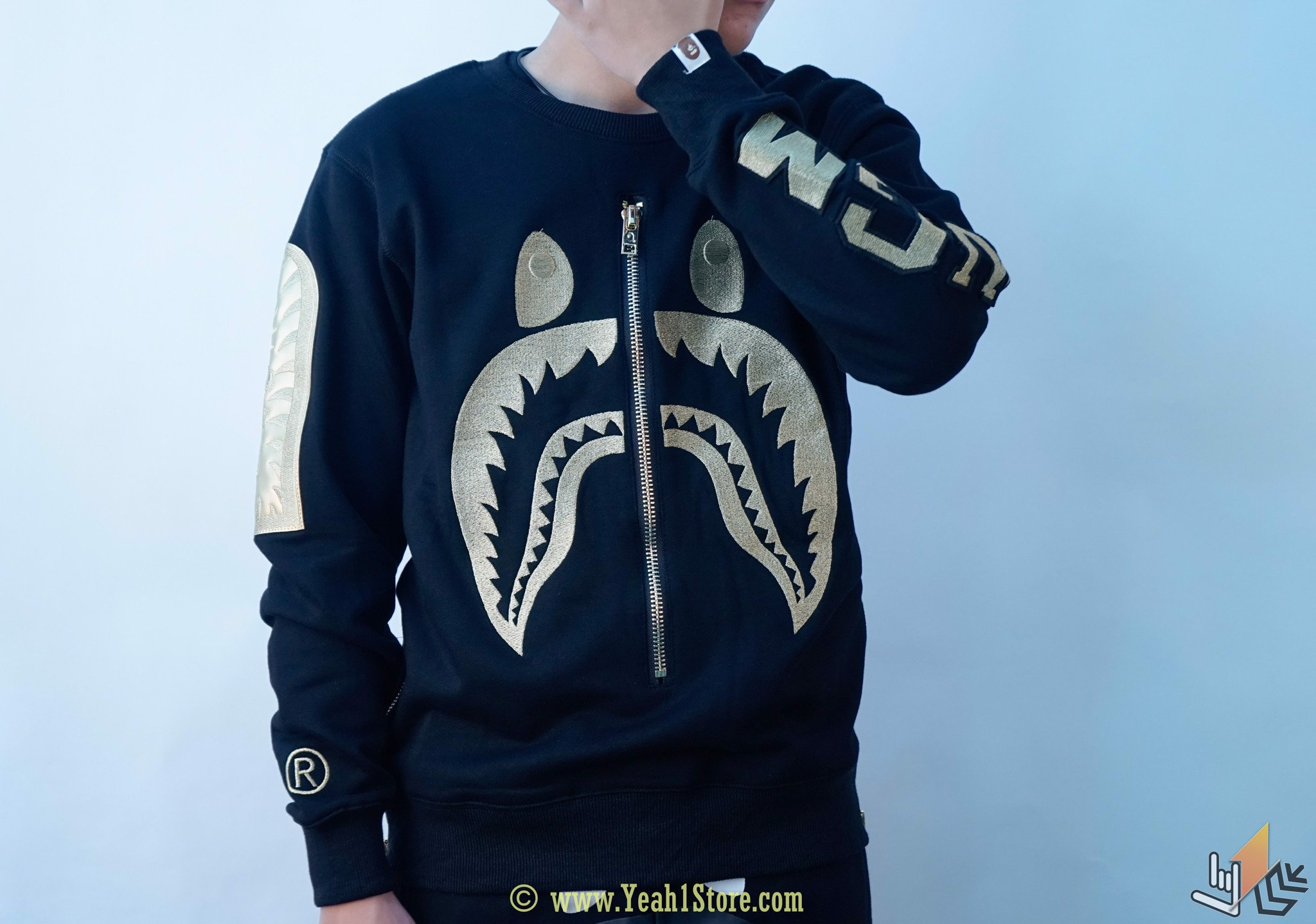 Bape Tee Full Zip Shark Sweater