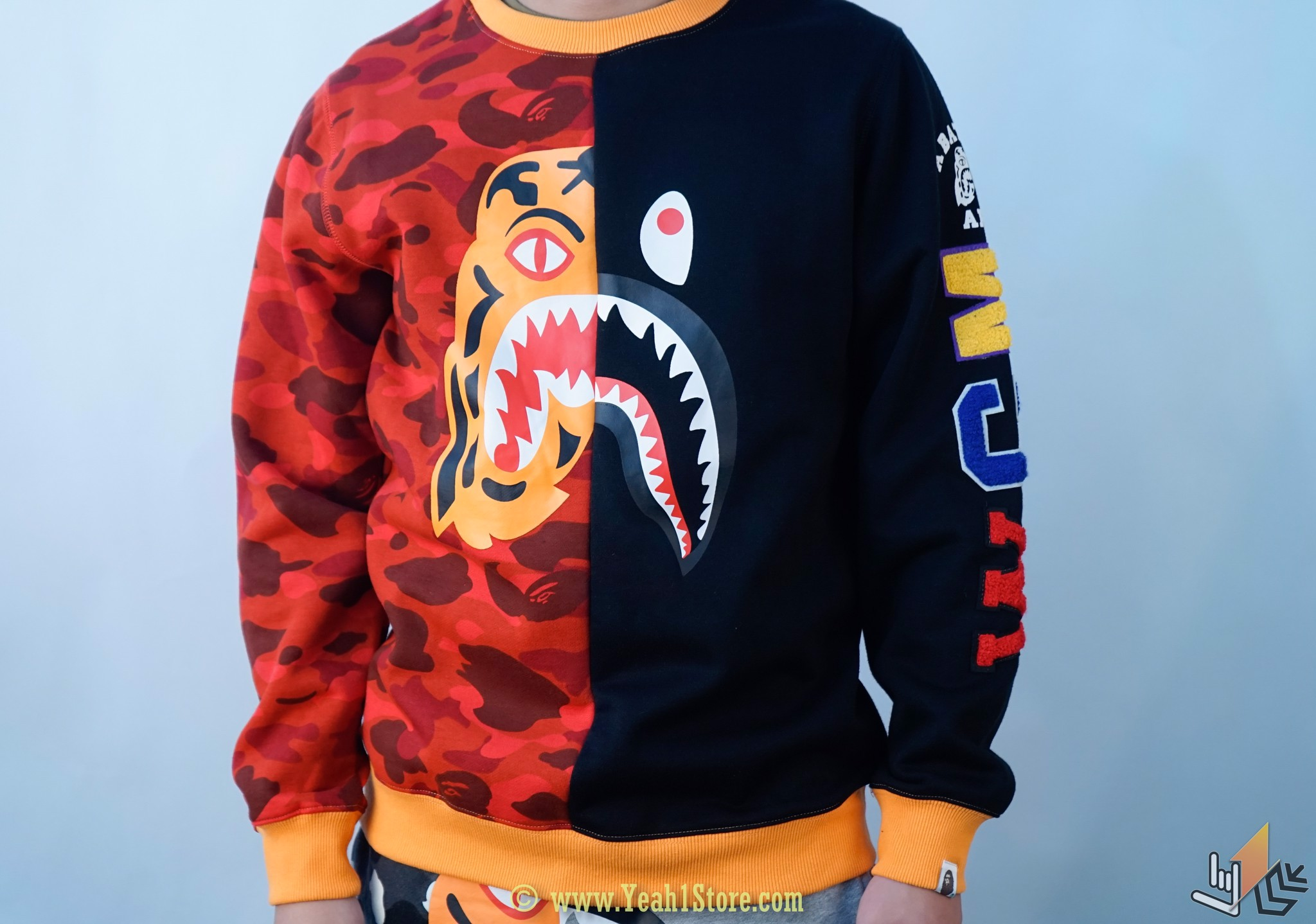 Sweater Bape Tiger Shark