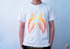 Bape Tee Zip Shark Orange Black / White
