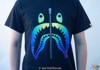 Bape Tee Zip Shark Gold Blue