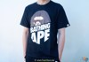 Bape Peek Big Ape Head Tee Black / Red