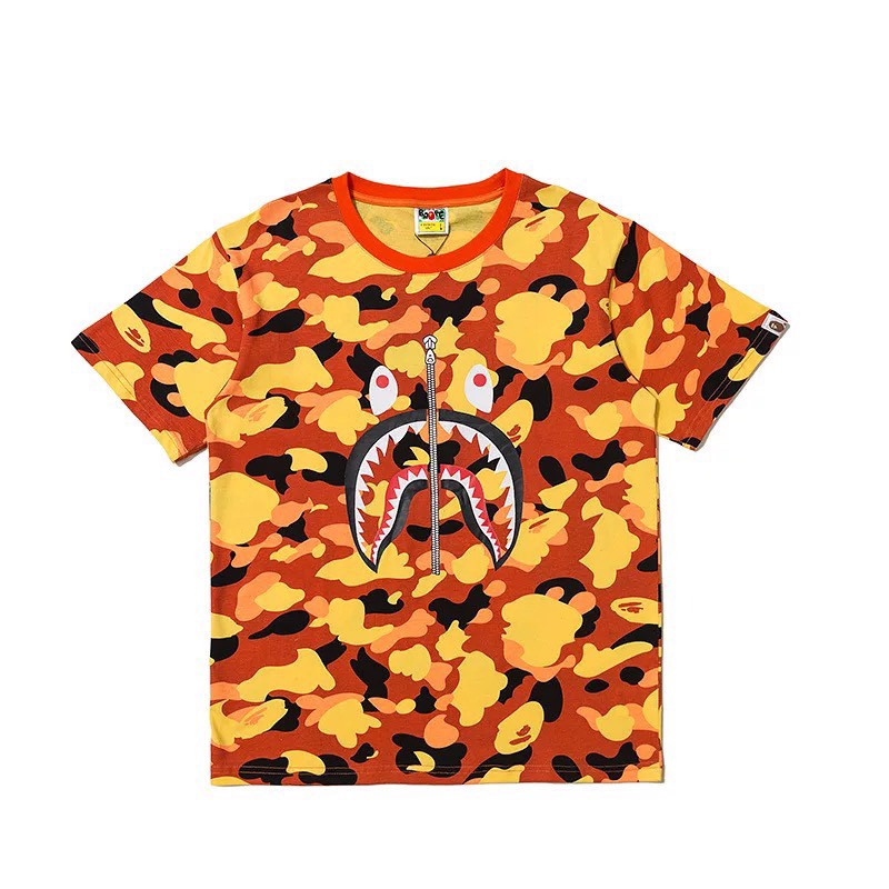 Bape® 1st Camo Shark Tee Orange
