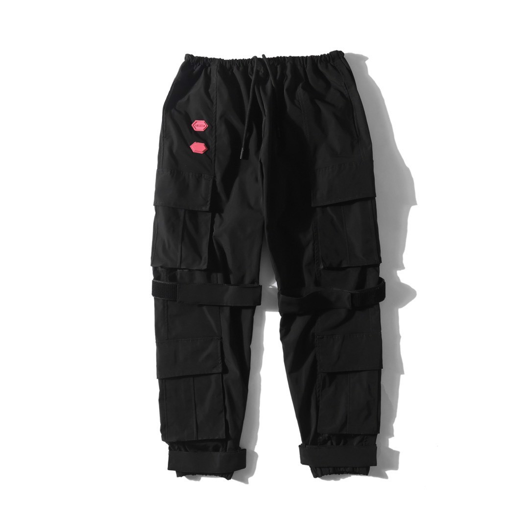 OFF-WHITE MULTIPLE POCKETS BLACK PANTS