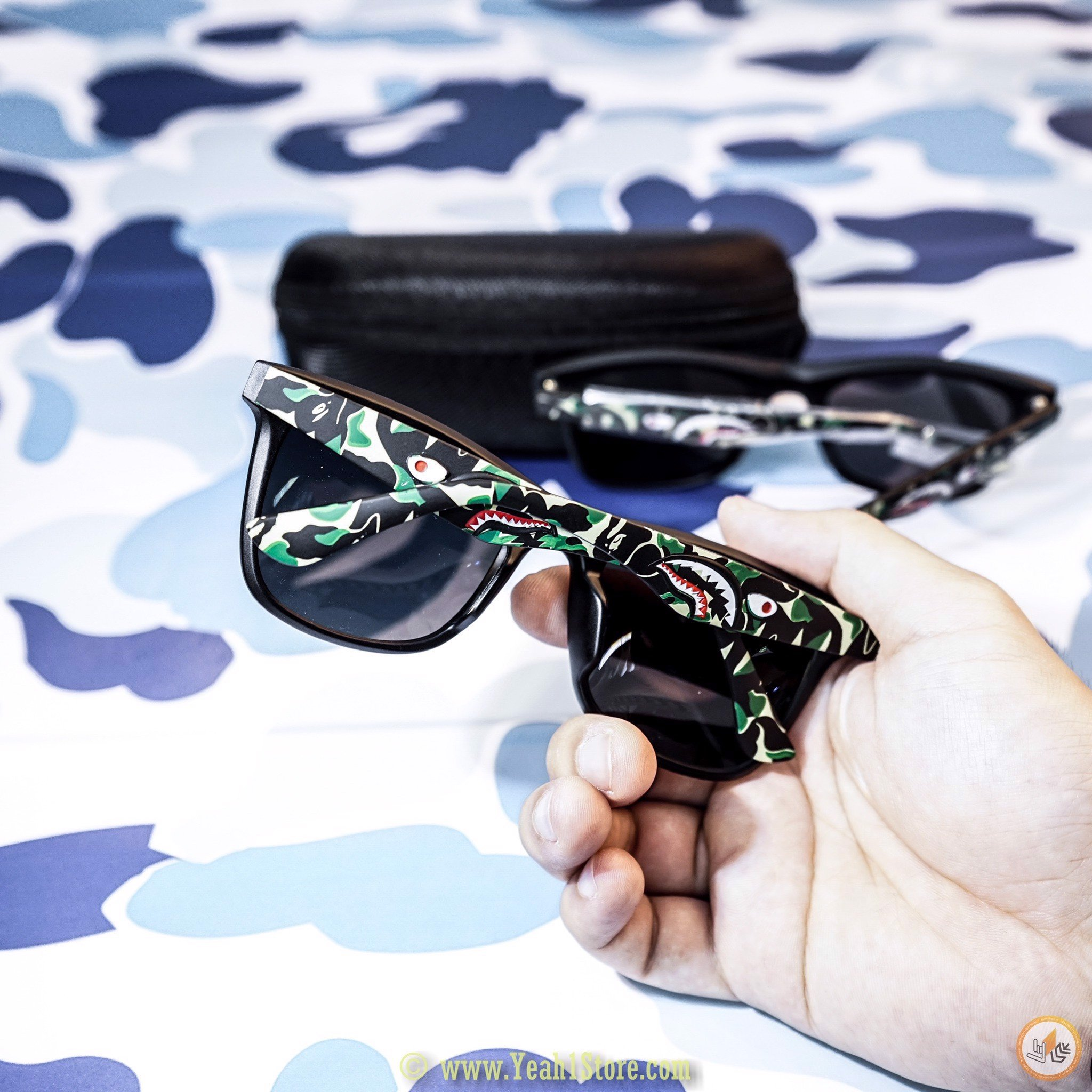 BAPE® SUNGLASSES BLACK/CAMO