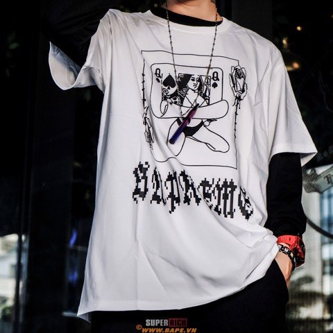 SUPREME QUEEN TEE WHITE (Best Version)