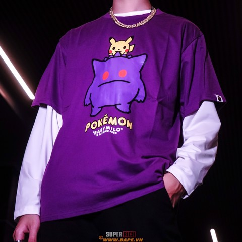 BAPE® x Pokemon Oversized Ladies Gengar Tee #2 Purple