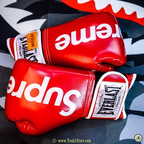 SUPREME EVERLAST BOXING GLOVES RED - Găng Tay Boxing Supreme