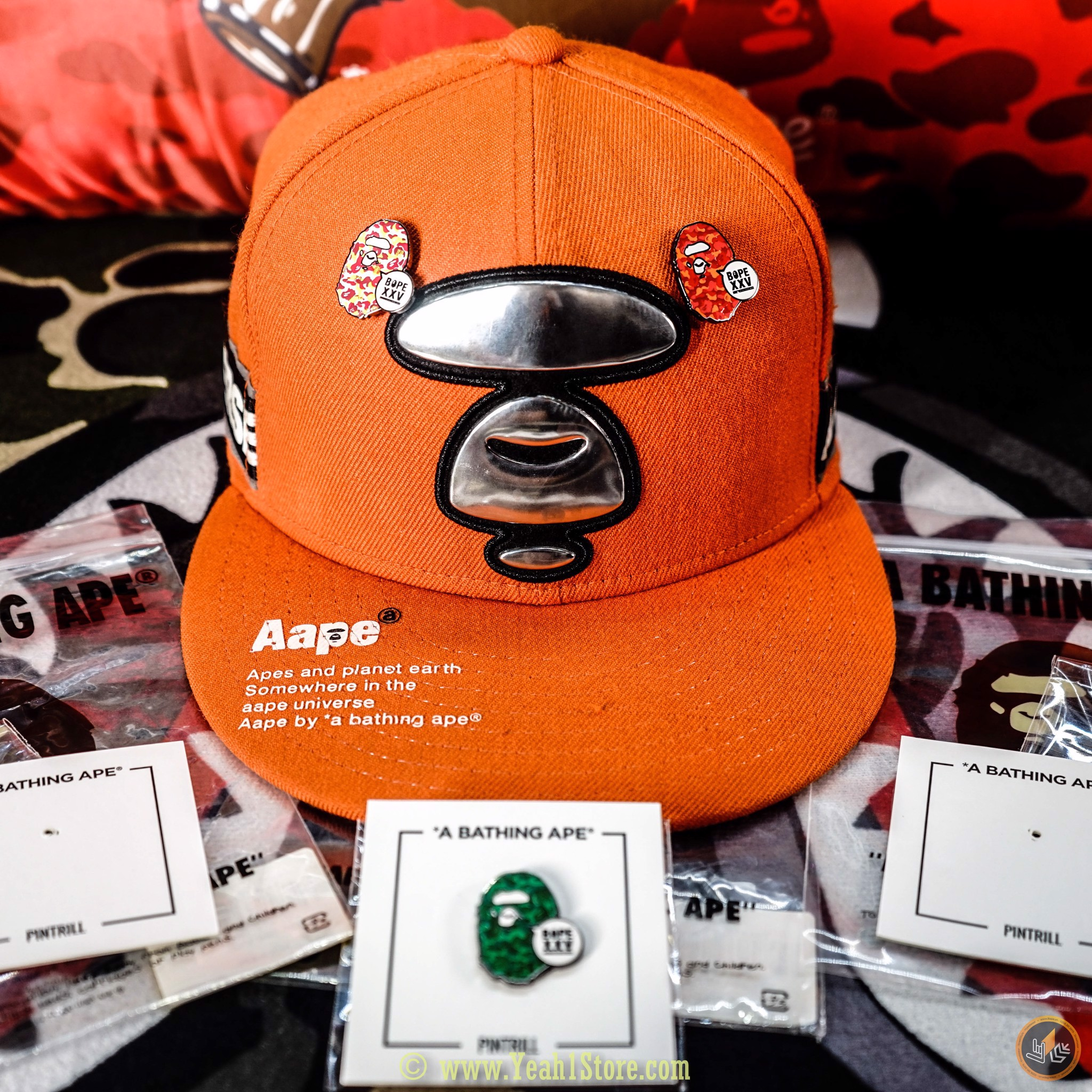 A BATHING APE® PINTRILL APE HEADS XXV (REAL)