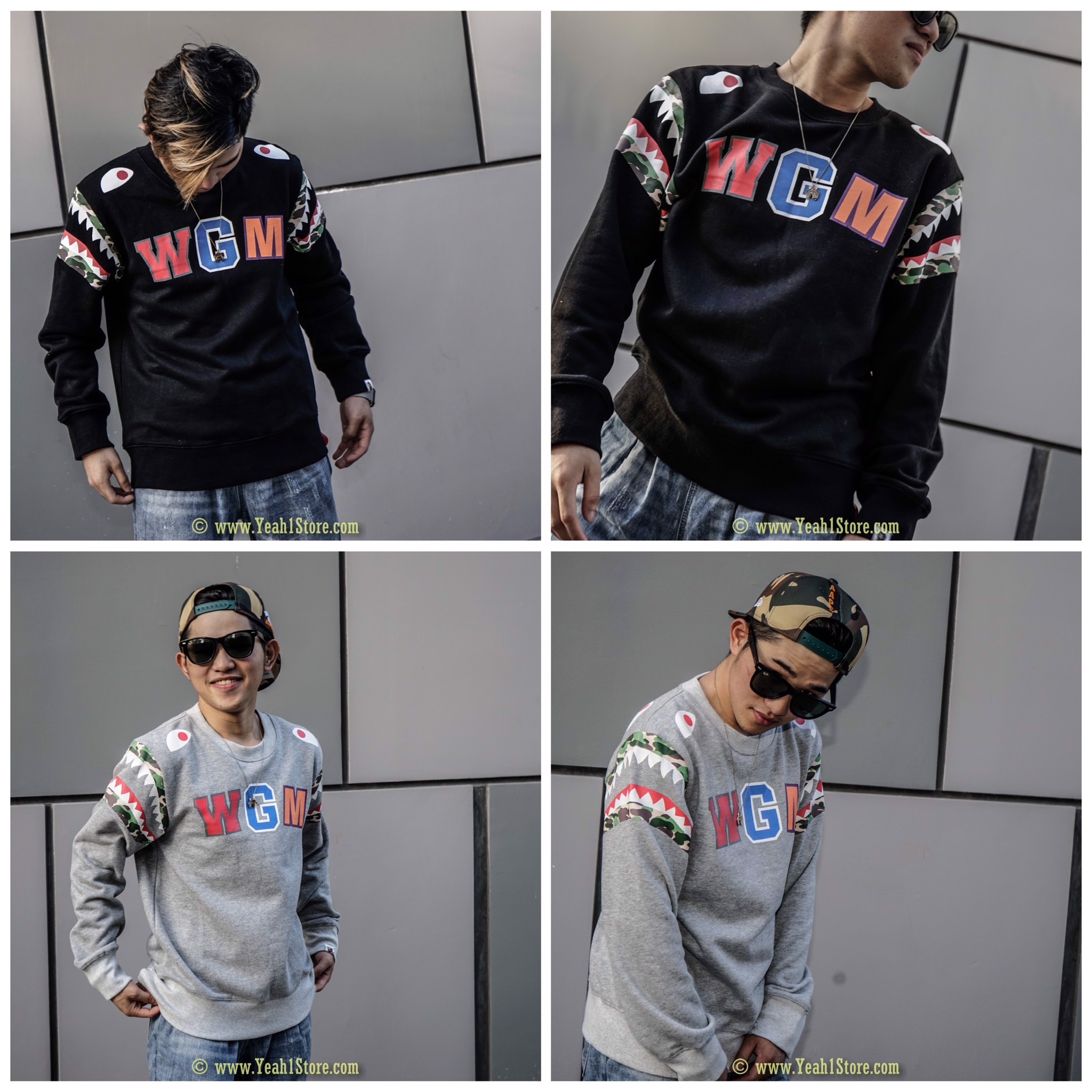 BAPE® DOUBLE KNIT SIDE SHARK WGM SWEATER