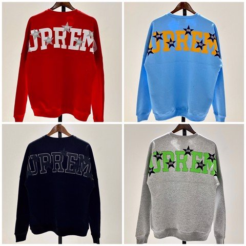 Supreme Stars Crewneck Sweater (BEST VERSION)