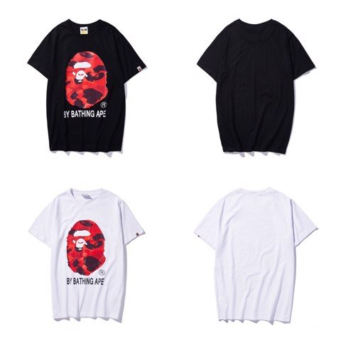 BAPE® Color Camo Big Ape Head Tee Black/Red