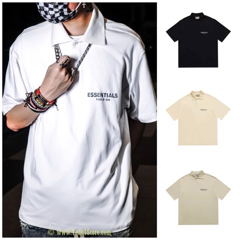 FEAR OF GOD ESSENTIALS Short Sleeve Boxy Polo