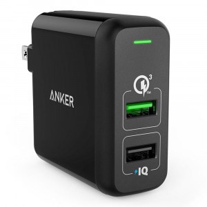 Sạc Anker 2 cổng, 30W, Quick Charge 3.0 (PowerPort 2, 30W, QC 3.0) - A2024