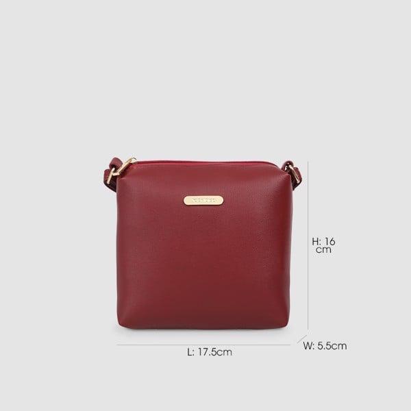 Túi đeo chéo nữ phom vuông nữ tính JO BY IDIGO FB2-1228-00 hình kích thước