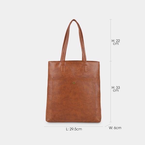 Túi đeo vai nữ dáng đứng năng động IDIGO FB2-1229-00 hình kích thước