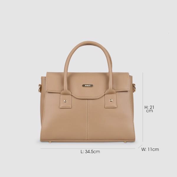 Túi xách tay nữ công sở nắp gập IDIGO FB2-5020-00 hình kích thước