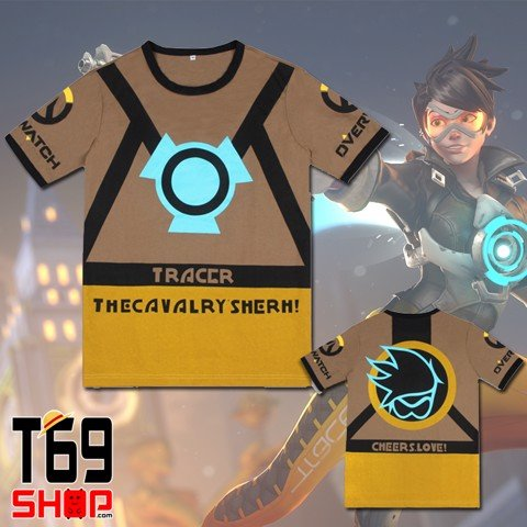 Áo thun game Overwatch - Tracer