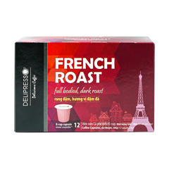 delipresso french roast 12 vien x 9g