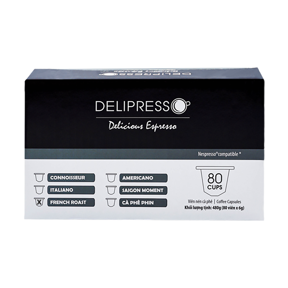 delipresso french roast 80 vien x 6g
