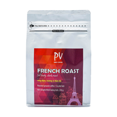 pv fine coffee french roast 250g bot