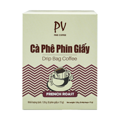 pv fine coffee french roast phin giay