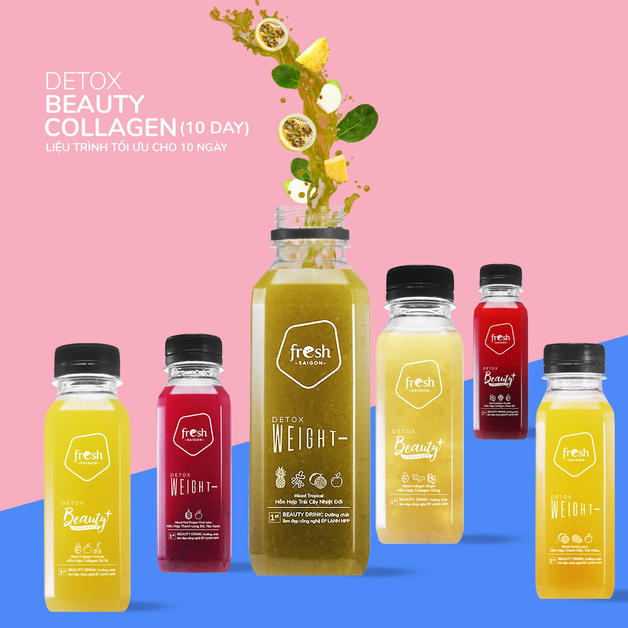 Detox Beauty Collagen 10: Set 10 ngày