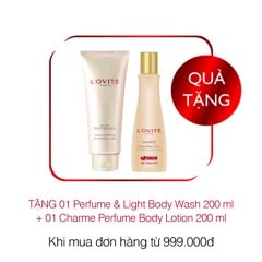 [Gift]Combo (1Performance Perfume & Light Body wash + 1Charme Perfume Body lotion) 200ml