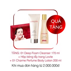 [Gift]Combo 1SRM Sạch sâu Deep Foam Cleanser 170ml + 1Charme Perfume Body lotion 200ml