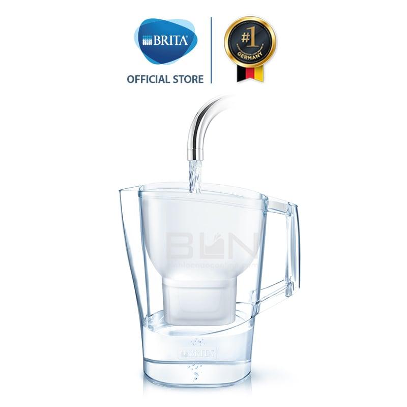Bình lọc nước BRITA Aluna Cool White 2.4L (có sẵn 1 lõi lọc Maxtra Plus) - Thương hiệu đến từ Đức