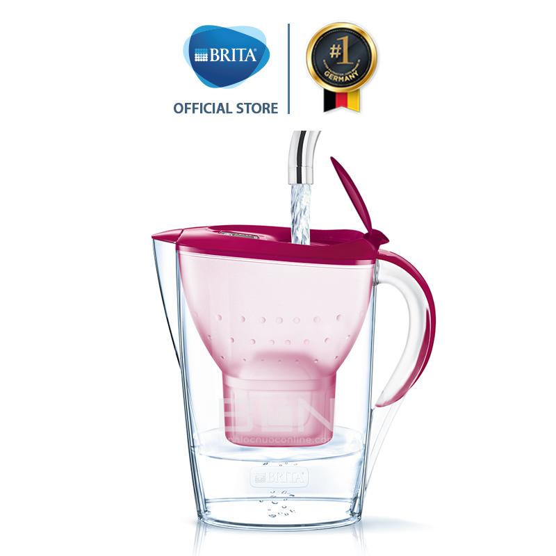 Bình lọc nước BRITA Marella Basic Berry 2.4L (có sẵn 1 lõi lọc Maxtra Plus) - Thương hiệu đến từ Đức